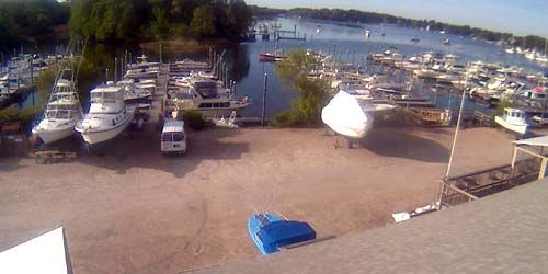 Yacht mooring -  live webcam , Rhode Island Providence