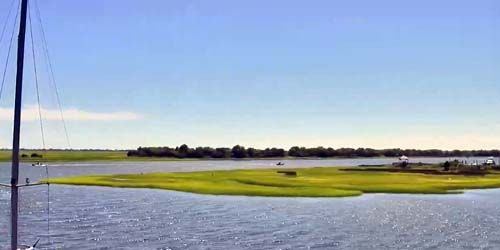 Yacht Club in Southport, beautiful bay -  live webcam , North Carolina Wilmington
